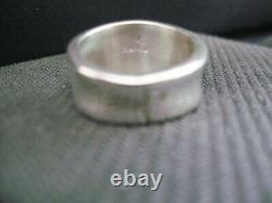 Size 8.5 Inlaid Turquoise Ring Set In Sterling Silver Native American Made R54B