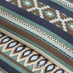 Southwest Comforter Set Cal King Size Turquoise Native American 7 Piece Bedding