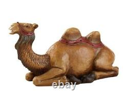 Val Gardena Hand Painted Resin Nativity Statue Set and Figurines (Camel), 13 Inch