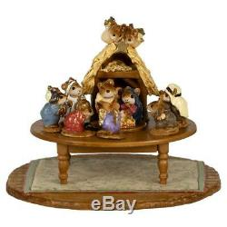 Wee Forest Folk CHRIS-MOUSE PAGEANT in Miniature, WFF# A-57, mini Nativity Set