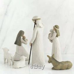 Willow Tree hand-painted sculpted figures, Nativity, 6-piece set Demdaco 1999
